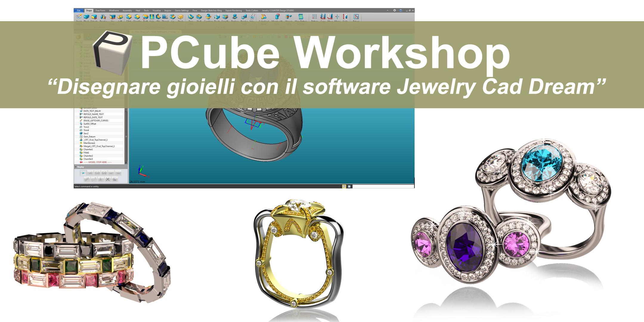 Disegnare gioielli con il software Jewelry Cad Dream