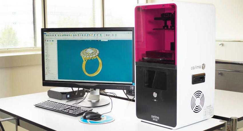 3D printer and CAD software to create jewelry