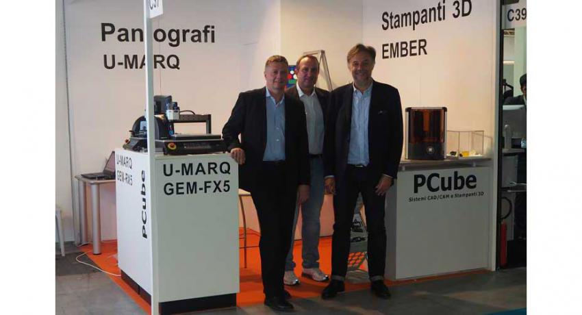 PCube in fiera a Viscom con le macchine per incidere U-MARQ