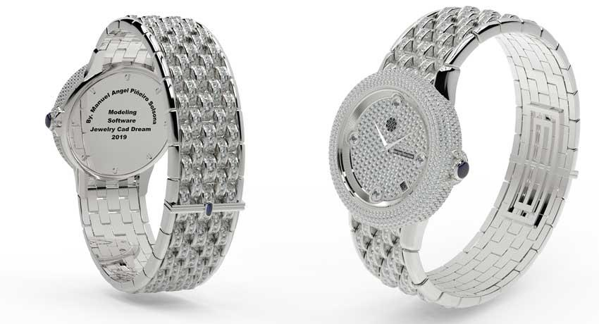 Orologio disegnato con Jewelry Cad Dream e rendering KeyShot HD