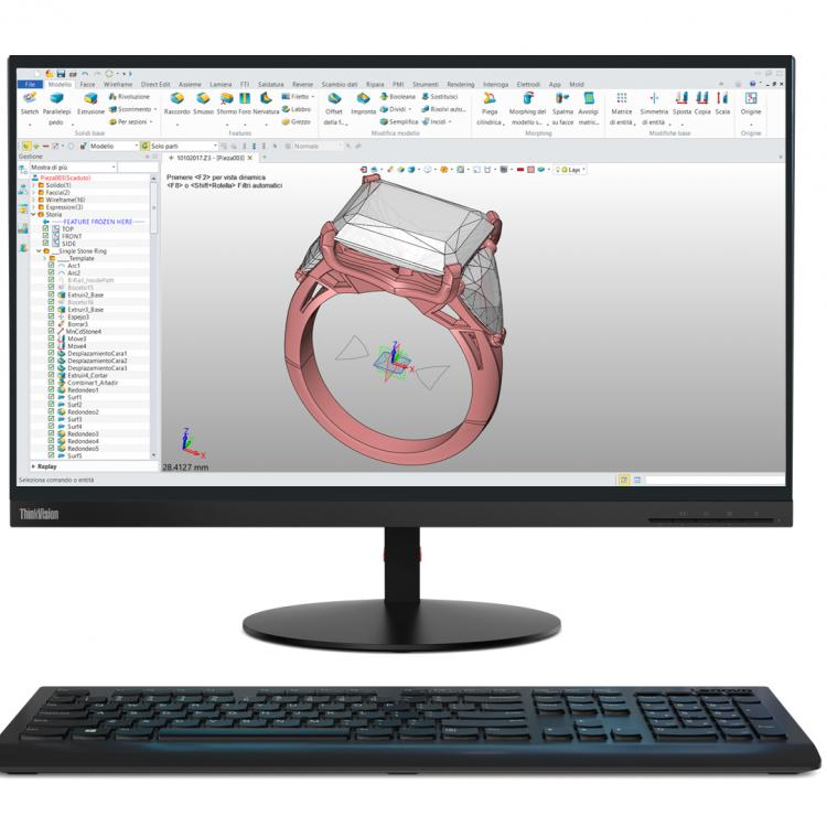 Lenovo workstation grafica tiny e jewelry Cad Dream